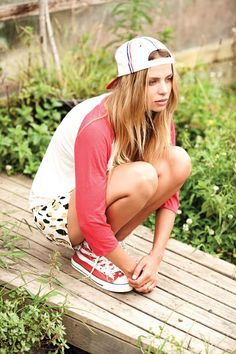 spring hat + converse