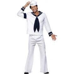 In the navy kostuum Village people  Navy kostuum van de Village People. Ga nu compleet naar een verkleedfeest met vrienden! Alle figuren van de Village People aanwezig in onze webshop. Dit kostuum bestaat uit een navy kostuum navy hoedje en sjaaltje. Maat: one size M/L.  EUR 77.95  Meer informatie