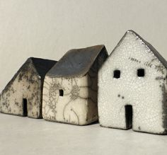 row of small raku houses