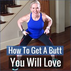 5 Exercises to get the butt you want! This workout will tighten and tone your backside without a squat or lunge. Not one! #workout