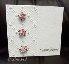 diamond trellis embossing folder--cuttlebug - want this folder
