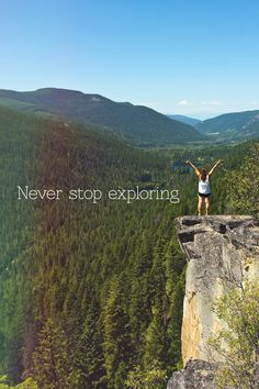 Never Stop Exploring. Explore the world. You never know what your going to find! Hiking Quotes, Travel Quotes, Oh The Places You'll Go, Places To Visit, Never Stop Exploring, Adventure Is Out There, Go Outside, The Great Outdoors, Adventure Travel