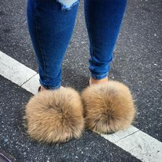 In search of ! Hi as anyone selling these duckie confetti raccoon fur slides . I need this in a 8 I need them ASAP Shoes Fuzzy Slides, Cute Slides, Fox Slippers, Fluffy Shoes, Fur Sliders, Hype Shoes, Cute Sandals, Fuzzy Sandals, Shoes Sandals