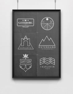 City Logos by Lemonade. , via Behance