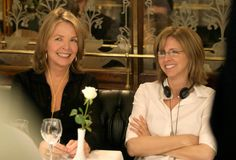 The one and only NANCY MEYERS with the great DIANE KEATON. What a pair of strong, crazy talented women. At LE GRAND COLBERT  in PARIS, filming the last scenes of Something is gotta Give.