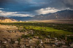 India - Aerial View from Thiksey Monastery, Leh, Ladakh / Aug.
