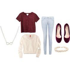 white sweater maroon cami converse