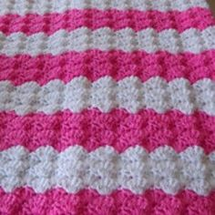 Pink Shell Baby Blanket