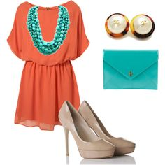LOVE! AND, i have those shoes and a dress almost exactly like this(: now all i need is the turquoise (: