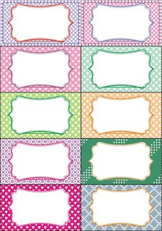 Label Templates, Templates Printable Free, Printable Labels, Printable Planner, Cubby Name Tags, Cubby Labels, Graduation Images, Quilting Stitch Patterns, Eid Cards