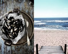 mussels and the beach