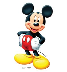 <li>This Disney&apos;s Mickey Mouse Cardboard Standup is made of heavy duty cardboard with high quality full color laminated graphic.<li>The standee can stand up or hang on a wall.<li>Standee also folds in half for storage.<li>Dimensions: x Mickey Mouse Clubhouse, Mickey Minnie Mouse, Mickey Mouse Imagenes, Classic Mickey Mouse, Mickey Mouse Cartoon, Mickey Mouse Parties, Mickey Mouse And Friends, Disney Parties, Mickey Mouse Free Printables