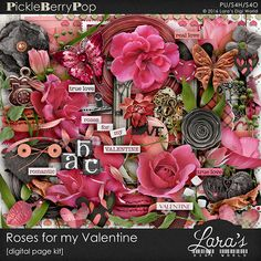 Roses for my Valentine Page Kit By lara's Digi World