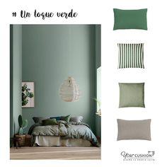 Da vida a tu hogar con un toque verde 💚 y gris en tu decoración. Hoy os proponemos una combinación de colores naturales con la que conseguirás la serenidad y armonía perfecta para tu dormitorio 😍👌   ¿Todavía no has renovado la decoración de tu casa? 🤔 ¡Abre la puerta a la naturaleza! 🌱 Haz realidad tus proyectos de decoración con la mejor calidad garantizada. Empieza a diseñar tus cojines a medida 100% personalizados en www.yourcushion.es 🤩💻  #cushion #deco #interiorinspo #diy