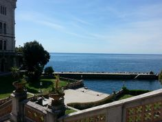 Castle Miramare, Trieste, Italy, sea landing