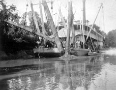 Unidentified U.S. snag boat on the Apalachicola River