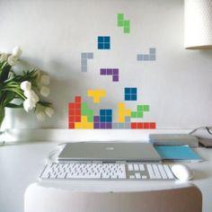 tetris bathroom tiles