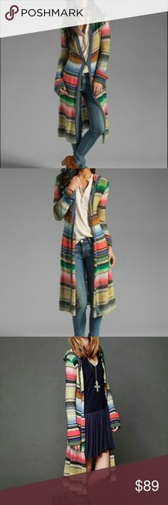 Hooded Color Spectrum Cardigan?Free People Hook and eye closure new without tags. Free People Sweaters Cardigans