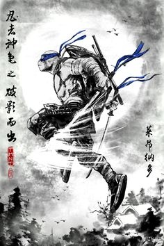 China - July - Page 6 - The Technodrome Forums Ninja Turtle Drawing, Ninja Turtle Tattoos, Teenage Mutant Ninja Turtles, Ninja Turtle Zeichnung, Ninja Kunst, Tortugas Ninja Leonardo, Desu Desu, Leonardo Tmnt, Dope Cartoon Art