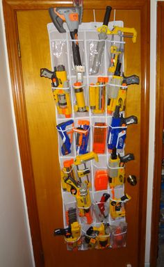 A great way to store Nerf weaponry