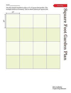 Print This Free Garden Planner: Printable Square Foot Garden Planner