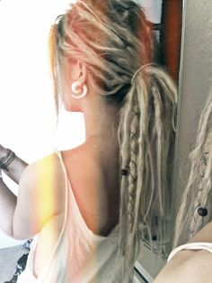 Dreads. if I could pull them off...I am so in love with them. dreads on blonde girls..perfect!