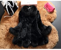 Fur coat to fulfill your fashion. Rabbit Fur Jacket, Winter, Fashion, Rabbit Fur Coat, Winter Time, Moda, Fashion Styles, Fashion Illustrations, Winter Fashion
