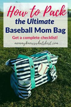 Will you be going to baseball or softball games? Pack the ultimate baseball mom survival bag so you are well prepared! Softball Tournaments, Softball Bags, Baseball Tournament, Softball Mom, Baseball Season, Baseball Mom, Baseball Snacks, Travel Baseball, Team Mom