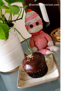 Lil' Squirt enjoys cupcake time from Baker and Spice (Shanghai, China)
