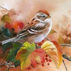 """Daily Paintworks - """"Leafy Camouflage"""" - Original Fine Art for Sale - © Paulie Rollins Watercolor Bird, Watercolor Paintings, China Painting, Bird Drawings, Bird Pictures, Watercolor Techniques, Fine Art Gallery, Animal Paintings, Bird Art"""