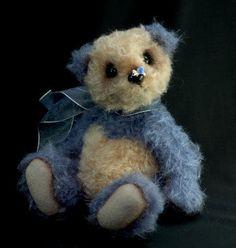 Blooh  10 1/2 Blueberry Artist Panda Bear  Mohair by bearsnbling