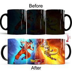 USD$11.81 dragon ball Z super saiyan goku vs frieza mugs coffee cups tea mugs heat sensitive Magic mug cup best gift mug