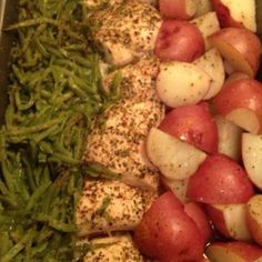 Green Beans,Chicken breasts and Red Skin Potatoes Recipe | Just A Pinch Recipes