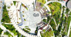 구로사랑 - 디큐브시티 Landscape Concept, Landscape Architecture Design, Landscape Plans, Architecture Photo, Urban Landscape, Landscape Art, Site Plan Rendering, Plaza Design, Landscape Illustration