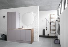 Mobile lavanderia con ante a battente By ARBLU Open Shelving Units, Domestic Appliances, Basin Unit, Laundry Room Cabinets, Washing Machine And Dryer, Laundry Room Design, Flooring, Furniture, Bathroom