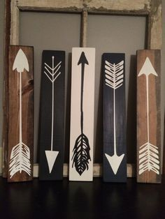 Wood Pallets Ideas Wood Arrow Wood Sign by on Etsy - Pallet Crafts, Pallet Art, Wood Crafts, Small Wood Projects, Diy Projects, Project Ideas, Palette Deco, Wood Arrow, Diy Signs