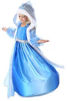 Frozen jurk prinses Elsa met sleep LUXE EDITON