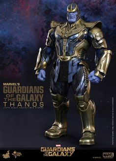 Hot Toys and Sideshow Collectibles give Marvel movie fans their best look yet at at the Mad Titan known as Thanos with the new 'Guardians of the Galaxy' Sixth Scale Figure. Marvel Comics, Thanos Marvel, Marvel Villains, Superhero Villains, Hulk Marvel, Comic Book Characters, Marvel Characters, Comic Books Art, Dc Comics