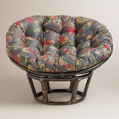 One of my favorite discoveries at WorldMarket.com: Antigua Micro Suede Papasan Chair Cushion