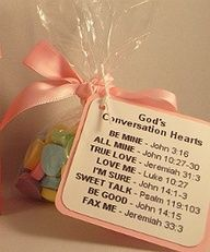 Gods Conversation Hearts Favor Idea / Church Valentine craft! @Lori Bearden Bearden Bearden Bearden Bearden Bearden Bearden Bearden Cain and @darlene Streeter ....so cute!!!