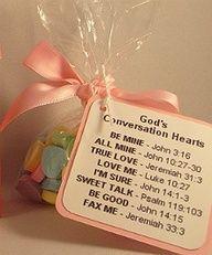 Gods Conversation Hearts Favor Idea  / Church Valentine craft! @Lori Bearden Bearden Bearden Bearden Bearden Bearden Bearden Bearden Cain and @darlene Streeter ....so cute!!!