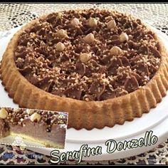 CROSTATA MORBIDA CON CREMA ROCHER, RICETTA BIMBY Ricotta, Nutella, Cupcake, Italian Cake, Sweet Tarts, Antipasto, Something Sweet, Recipe Of The Day, Cake Cookies