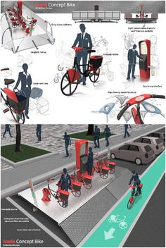 "Interesting bike sharing platform design concept from article ""4 Quirky Ideas to Revolutionize Bike Sharing"""
