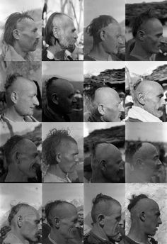 Albanian traditional head shaves 1929 (photos from Dr. Albanian People, Albanian Culture, Eagle Logo, Historical Pictures, Anthropology, Ancestry, Concept Art, The Past, Costumes