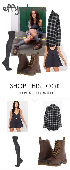 """Effy Stonem outfit 2"" by sarahuska ❤ liked on Polyvore featuring Silence + Noise, Madewell, Topshop and Dr. Martens"