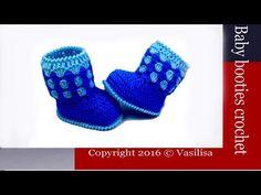 How to crochet baby booties //Vasilisa - YouTube