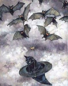 Bats, and a cat in a hat.