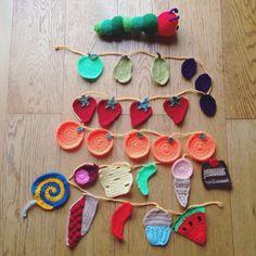 Hungry caterpillar crochet garland made by me @gremlincrochet