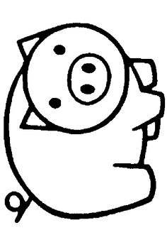 Kleurplaat: een schattig varkentje Easy Coloring Pages, Animal Coloring Pages, Coloring Pages For Kids, Coloring Books, Pig Crafts, Farm Crafts, Camping Crafts, Quilt Patterns Free, Applique Patterns