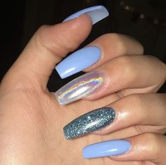 Installation of acrylic or gel nails - My Nails Summer Acrylic Nails, Best Acrylic Nails, Gorgeous Nails, Pretty Nails, Aycrlic Nails, Fire Nails, Dream Nails, Chrome Nails, Holographic Nails